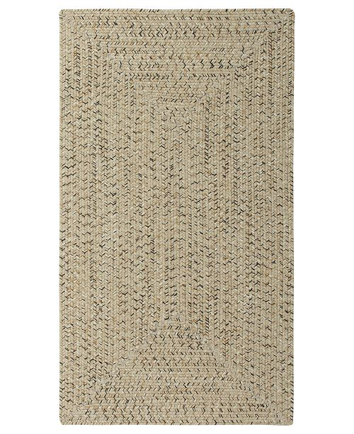 Capel Area Rug, Indoor/Outdoor Sea Glass Rectangular Braid 0110-600 Shell 7' x 9'