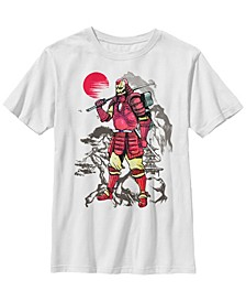 Marvel Big Boys Iron Man Samurai Mountain Sunset Short Sleeve T-Shirt