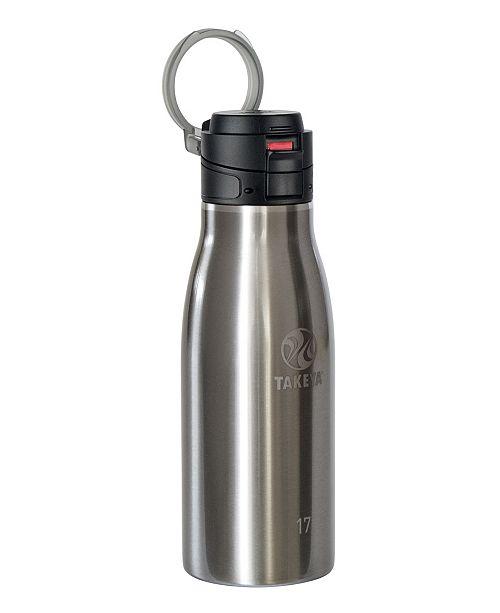 Takeya Stainless Steel 17-Oz. Travel Mug with Flip Lock Lid