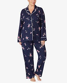 Women's Plus Size Cotton Jersey Pajama Set
