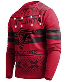 Men's Atlanta Falcons Two Stripe Big Logo Lightup Sweater