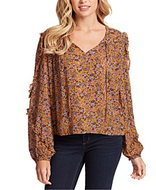 Plus Size Songbird Ruffle Blouse