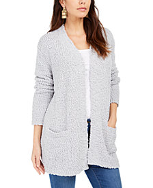 Style & Co Popcorn-Knit Open-Front Cardigan, Created for Macy's