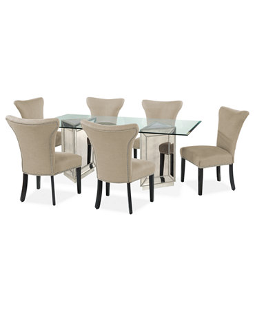 sophia dining room furniture 7 piece set 76 table and 6 side chairs