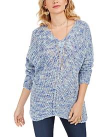 V-Neck Dolman-Sleeve Sweater, Created for Macy's