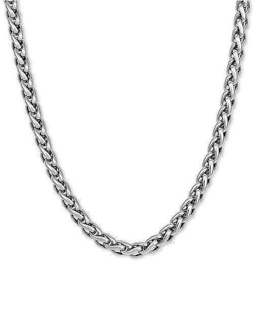 "Macy's Wheat Link 24"" Chain Necklace in Sterling Silver"