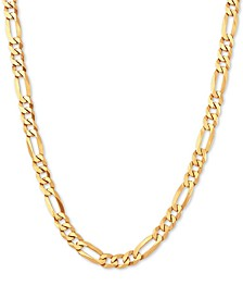 """Figaro Link 22"""" Chain Necklace in 18k Gold-Plated Sterling Silver"""