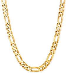 "Figaro Link 26"" Chain Necklace in 18k Gold-Plated Sterling Silver"