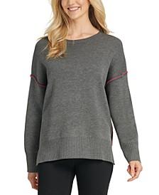 DYNY Contrast-Trim Double-Knit Sweater