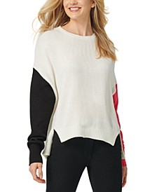 High-Low Colorblocked Sweater