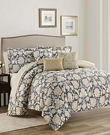 Alexandra Floral  10-Piece Reversible King Comforter Set