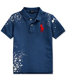 Little Boys Distressed Cotton Mesh Polo