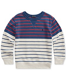 Toddler Boys Striped Cotton French Terry Sweatshirt