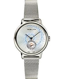 Women's Swiss Fibonacci Stainless Steel Mesh Bracelet Watch 36mm