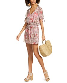 Savannah Printed Chiffon Tunic Cover-Up