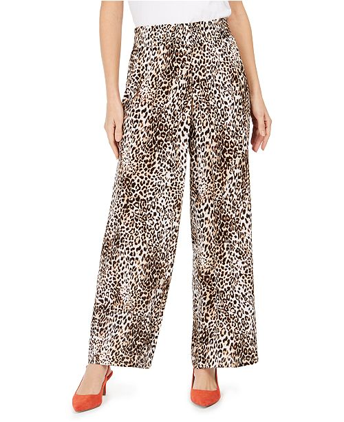JM Collection Crepe Printed Pull-On Pants, Created For Macy's