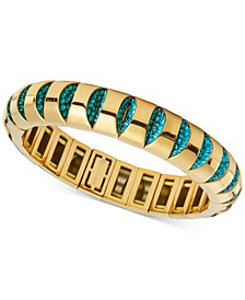 Gold-Tone Pavé Stretch Bracelet