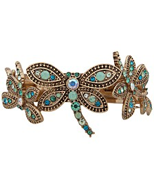 Gold-Tone Green Dragonfly Barrette