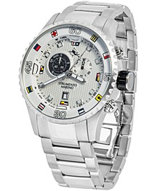 Men's Porto Cervo Professional Regatta Stainless Steel Performance Timepiece Watch 47mm
