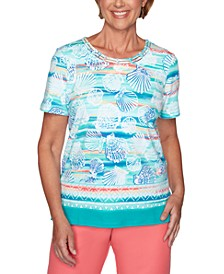 Petite Seashell Print Miami Beach Top