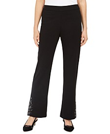 Crepe Embellished Pants, Created For Macy's