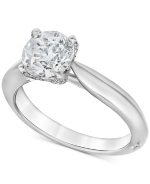 Diamond Claw Engagement Ring (1-5/8 ct. t.w.) in 18k White Gold