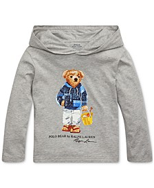 Toddler Boys Beach Bear Cotton Hooded T-Shirt
