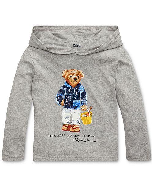 Polo Ralph Lauren Little Boys Beach Bear Hooded T-Shirt