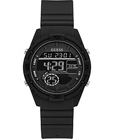 Digital Black Silicone Strap Watch 40mm