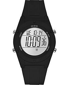Digital Black Silicone Strap Watch 42mm