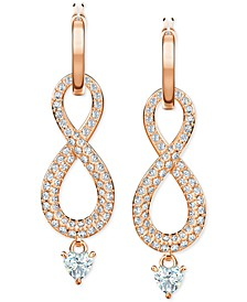 Crystal Infinity Convertible Drop Earrings with Removable Charms