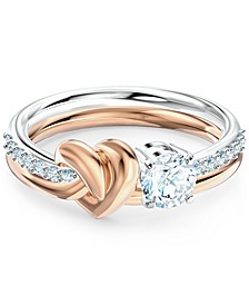 Two-Tone Heart Knot & Crystal Ring