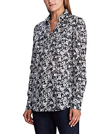 Floral Patch-Pocket Shirt