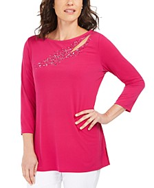 Embellished Cutout Top, Created For Macy's