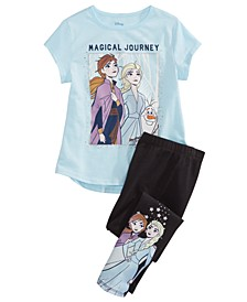 Little Girls 2-Pc. Frozen II Magical Journey Top & Leggings Set