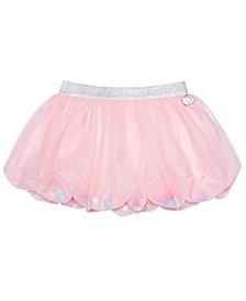 Little Girls Pom Pom Bubble Skirt