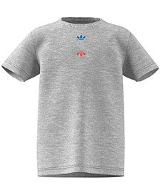 Big Boys Cotton Tri-Color Stacked Logo T-Shirt