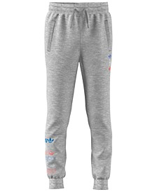 Big Boys Logo-Print Fleece Jogger Pants