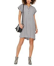 High-Low Chambray Shirt Dress, Created For Macy's