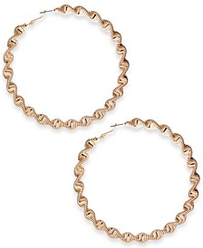 "Gold-Tone Extra-Large Twisted Hoop Earrings, 3.5"", Created for Macy's"