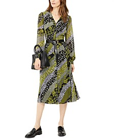 Belted Printed Shirtdress