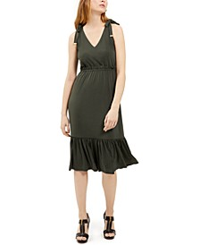 Tie-Shoulder Midi Dress
