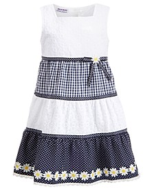 Toddler Girls Gingham Daisy Dress