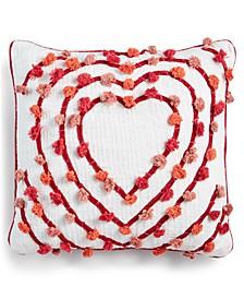 "Tasseled Heart 20"" x 20"" Decorative Pillow"