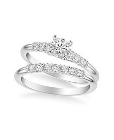 Diamond Twist Bridal Set (7/8 ct. t.w.) in 14k White, Yellow or Rose Gold
