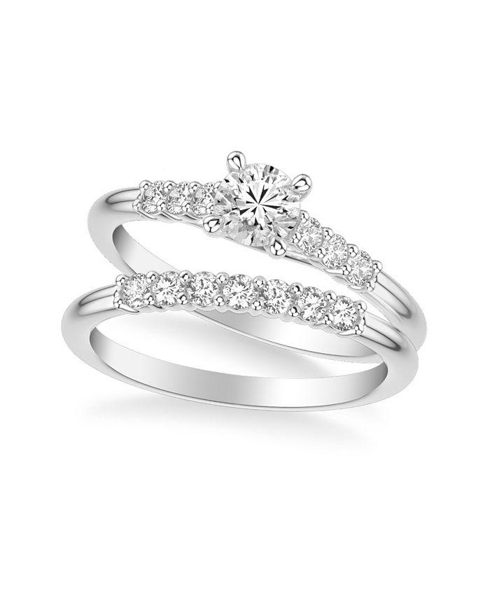 Macy's - Diamond Twist Bridal Set (7/8 ct. t.w.) in 14k White, Yellow or Rose Gold