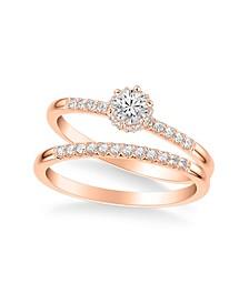 Diamond Bridal Set (3/8 ct. t.w.) in 14k White, Yellow or Rose Gold