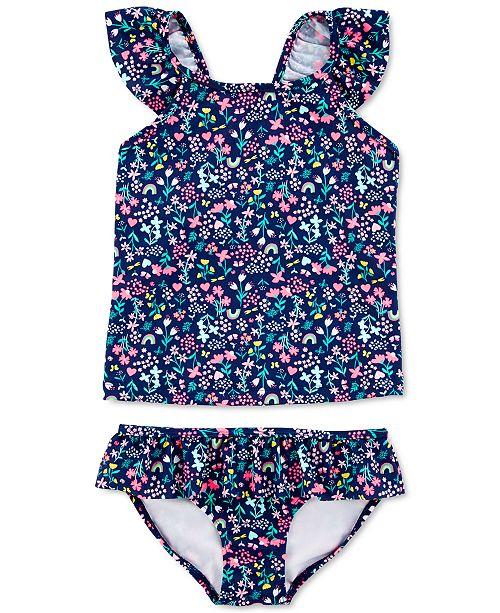 Carter's Little & Big Girls 2-Pc. Print Tankini Swim Suit