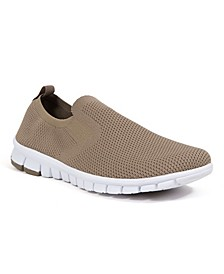 Men's NoSoX Eddy Flexible Sole Bungee Lace Slip-On Oxford Hybrid Casual Sneaker Shoes