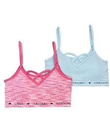 Tahari Big Girl Seamless 2-Pack Bra with Removable Cups